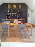 przykład drewnianej podłogi w kuchni