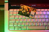 komputer, karta kredytowa, zakupy on line