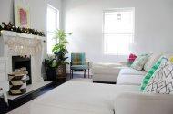 komfortowy salon z wełnianymi elementami