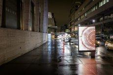 miasto i ekran LED