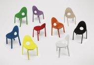 Kolorowe krzesła DROP